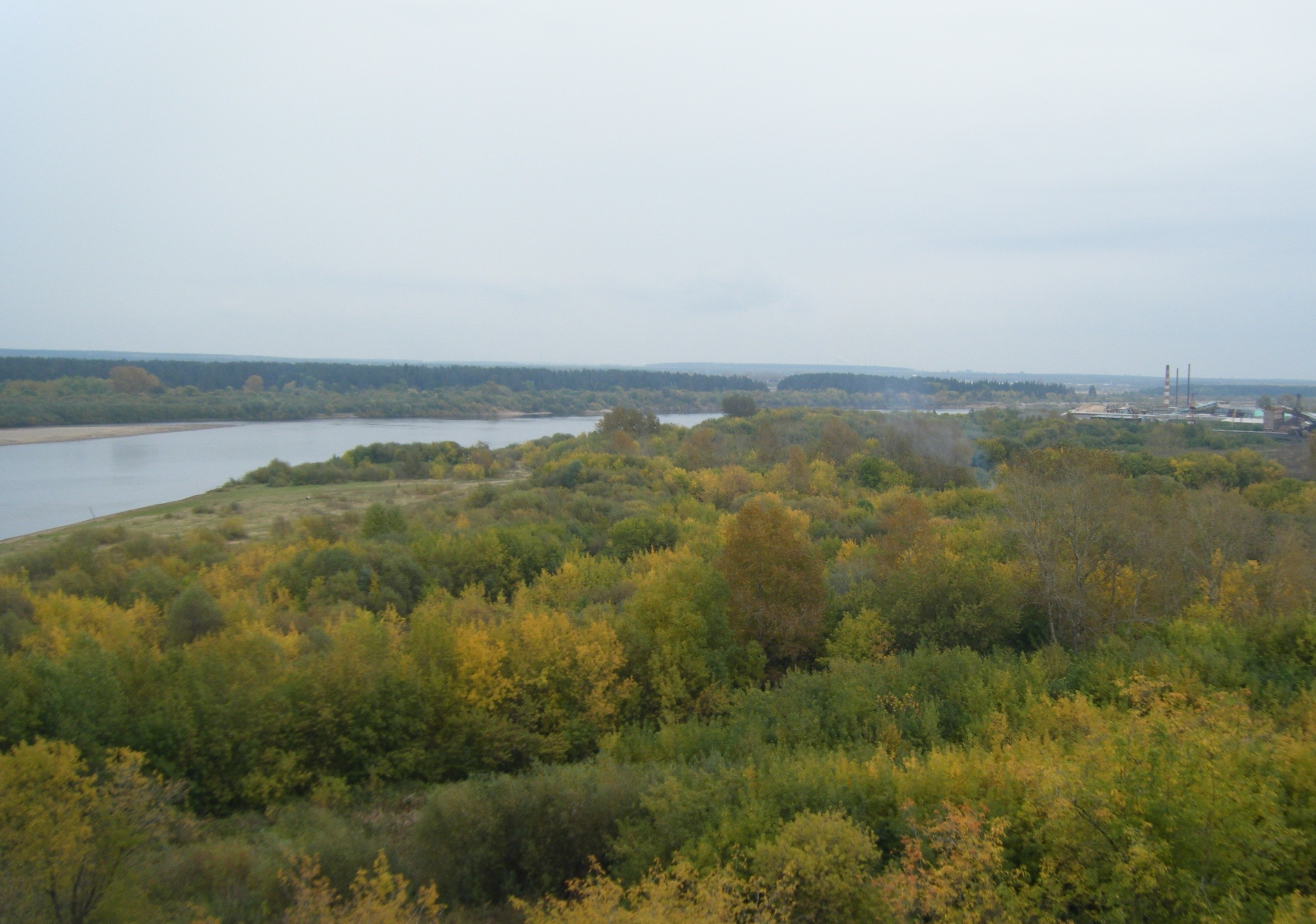 View of the Vyatka River.